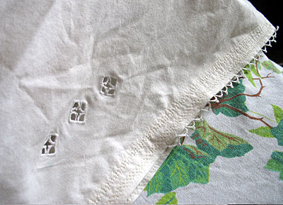 Elissa's Cutwork and Needle Lace Hand Embroidered Pillowcases