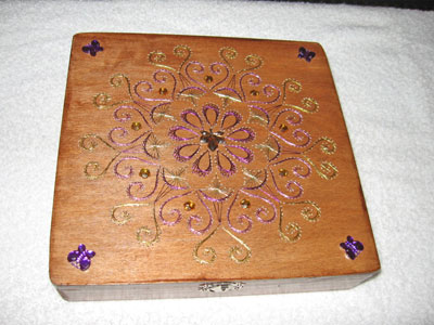 Embroidery on Wooden Boxes