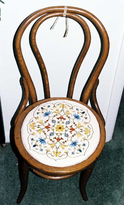 Hand Embroidery on Antique Chair