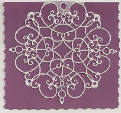 Embroidery Design used to Create a Beautiful Paper Card in Vellum