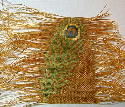 Goldwork Peacock Feather