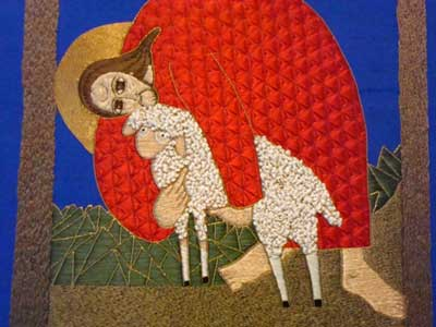 Embroidered Icon: Good Shepherd