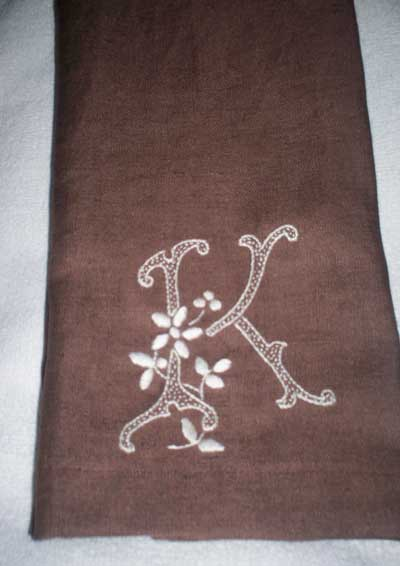 Reader's Embroidery: Monogrammed Guest Towel