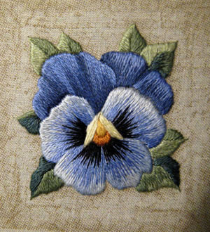 Reader's Embroidery: Pansy Kit Improved