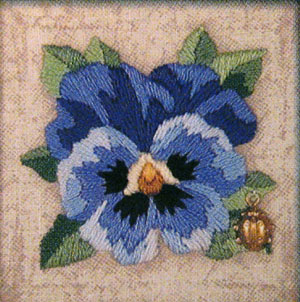 Reader's Embroidery: Pansy Kit