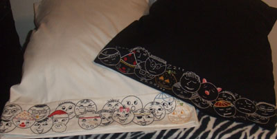 Reader's Embroidery: Embroidered Pillowcases