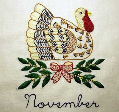 Reader's Embroidery: Hand Embroidered Quilt Block of the Month