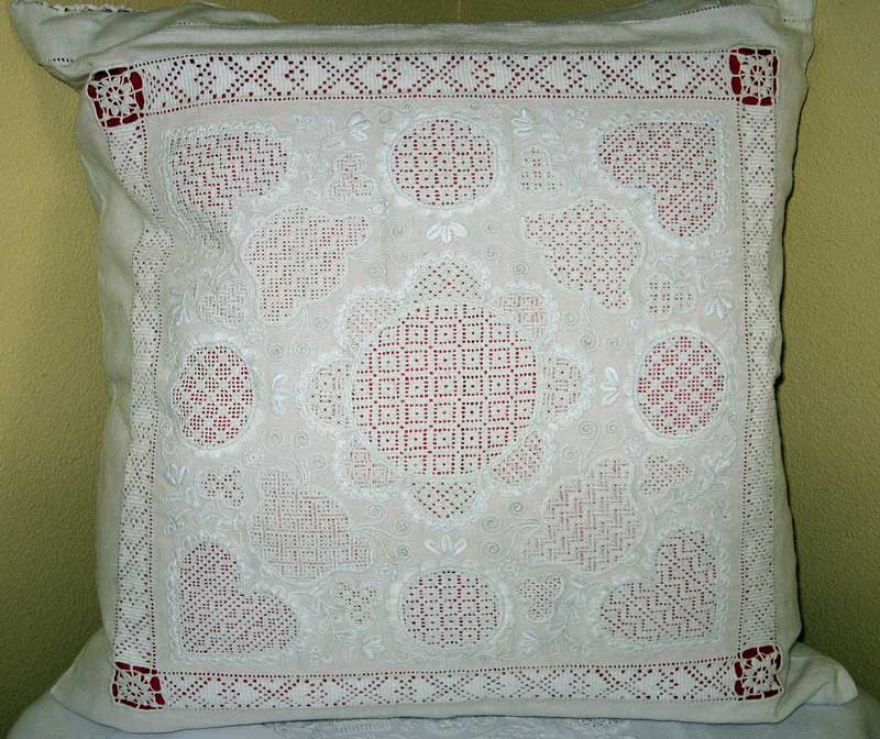 Schwalm Whitework Embroidery Pillow
