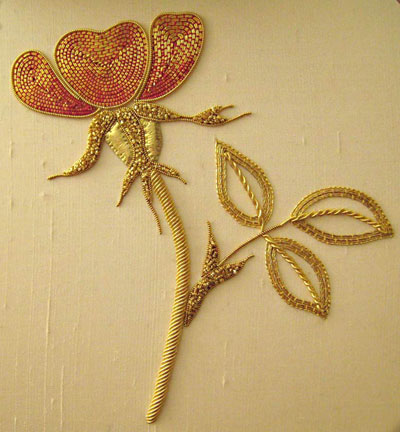 Alison Cole Embroidery- Bejewelled Dragonfly
