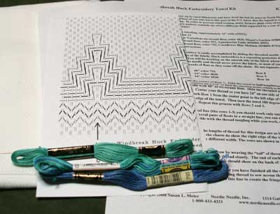 Huck Embroidery Kits from Nordic Needle