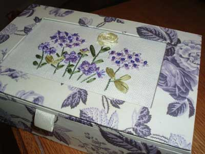 Ribbon Embroidery Kit - a keepsake box by Bucilla