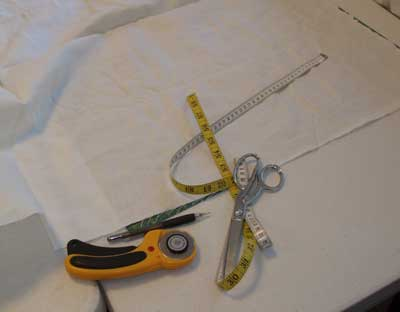 Dressing a Slate Frame in Preparation for a Big Embroidery Project