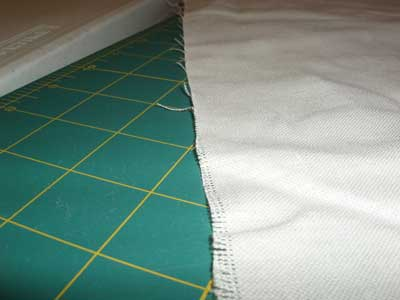 Cutting Linen for Embroidery