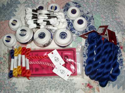 Embroidery Supplies: threads, threads, threads, and THREADS!!!