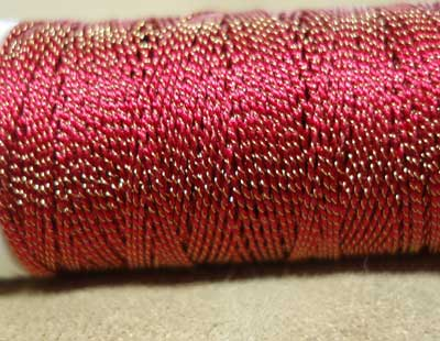 Gilt Sylke Twist: Hand Embroidery Thread in Silk and Gold
