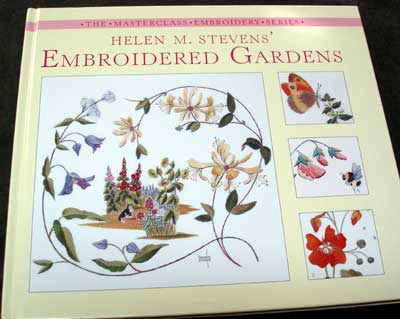 Hand Embroidery Items: Book by Helen Stevens and various fibers and embellishments