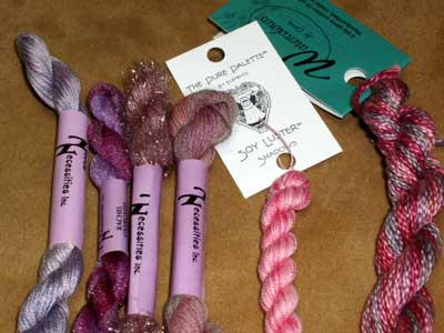 February Embroidery Stash Give-away: a dozen different embroidery threads