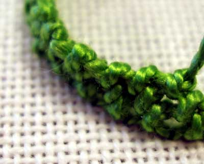 Trellis Stitch used in Hand Embroidery