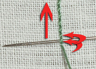 Whipped Backstitch