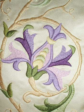 Satin Stitch in Silk Threads