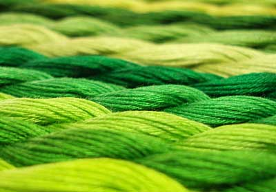 Green Floche for Hand Embroidery
