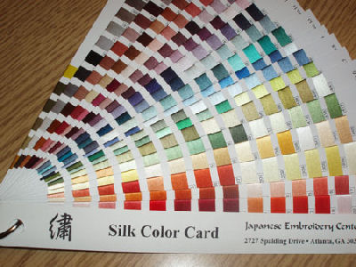 Color Cards for Embroidery Threads