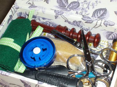 Needle Roll for Embroidery Needle Storage, Made from Felt and Ribbon