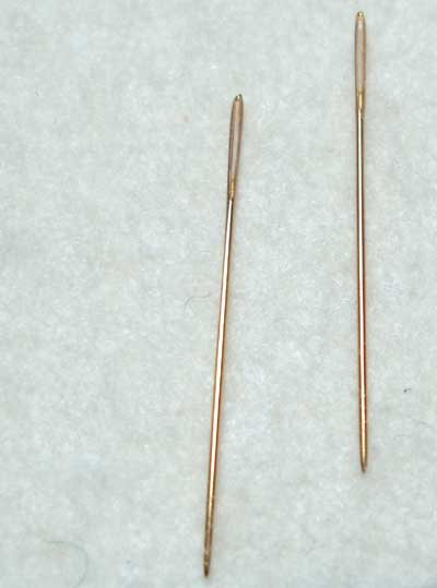 Gold Needles for Hand Embroidery