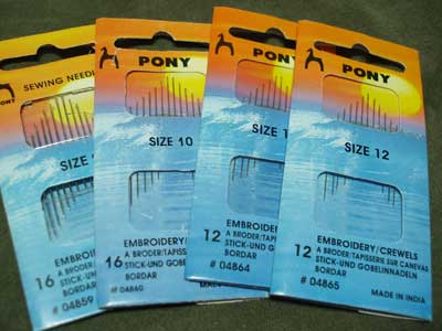 Pony Embroidery Needles