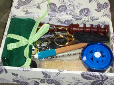 Contents of a Needleworker's Toolbox