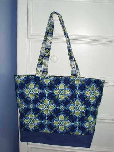 Use a tote bag to store and carry your needlework projects!