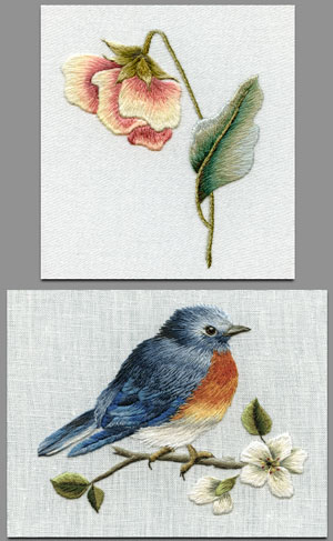 Needle Painting Embroidery Projects CD from Trish Burr