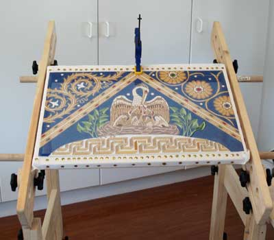 Trestles for Slate Frames: Embroiderer's Workstation