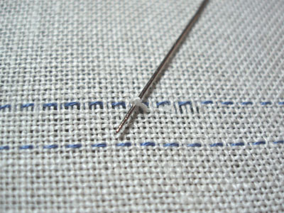Drawn Thread Embroidery on Whitework Sampler