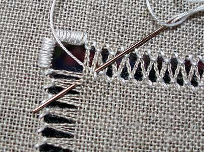 Drawn Thread Embroidery: Working Zig-Zags
