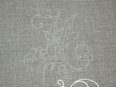 Whitework Embroidery Sampler: Placing a Monogram and Transferring the Design