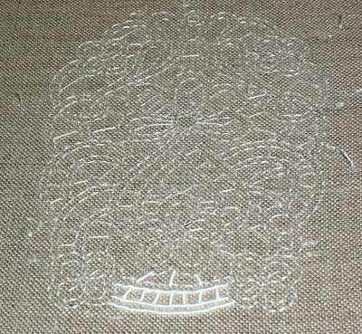 Cutwork Embroidery on my Whitework Sampler