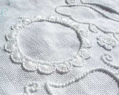 Schwalm Whitework Embroidery project underway