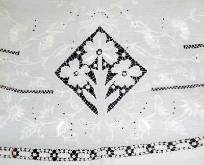 Gorgeous example of whitework and cutwork