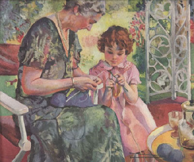 Grandma and child knitting - what could be sweeter than this?