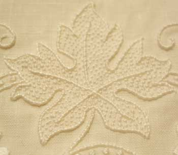 Simple hand embroidery stitches can be used on monograms or other whitework for elegant results