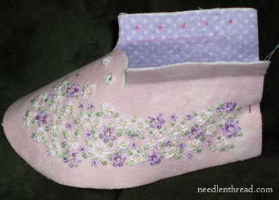 Hand Embroidered Baby Booties