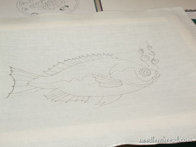 Blackwork Embroidery Project: Fish