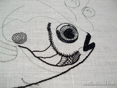 Blackwork Embroidery: A Modern Take on a Fish