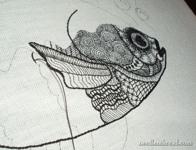 Blackwork Embroidery: Fish