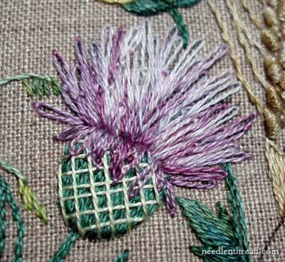 Embroidered Thistle on Breath of Spring project