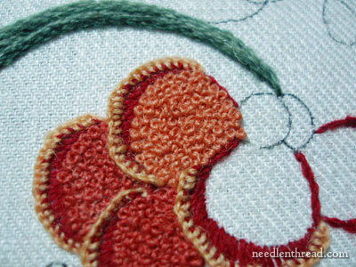 Crewel Embroidery: Flowers in French knots