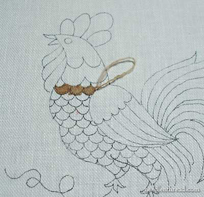 Crewel Embroidery with D'Aubusson wool thread
