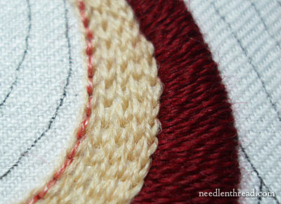 Satin Stitch in Wool Threads
