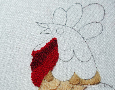 French Knots in Crewel Work